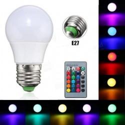 Led Λάμπα RGB με Τηλεχειριστήριο