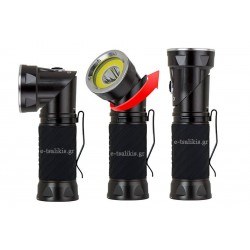 NEBO CRYKET Φακός LED 250 Lumens με περιστρεφόμενη κεφαλή και 3 λειτουργίες φωτισμού
