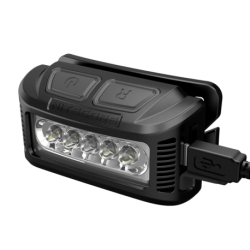 ΦΑΚΟΣ LED NITECORE HEADLAMP NU10, Black+Black Headband