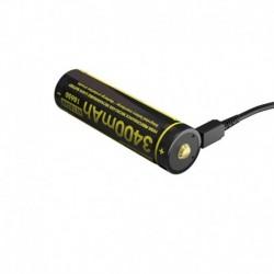 ΜΠΑΤΑΡΙΑ NITECORE 18650 / 3400mAh/Micro USB